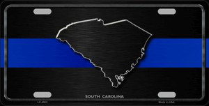 South Carolina Thin Blue Line Wholesale Metal Novelty License Plate