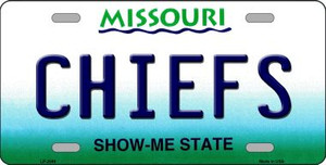 Chiefs Missouri State Background Novelty Wholesale Metal License Plate LP-2049