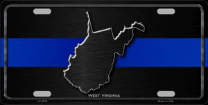 West Virginia Thin Blue Line Wholesale Metal Novelty License Plate