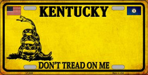 Kentucky Don't Tread On Me Wholesale Metal Novelty License Plate