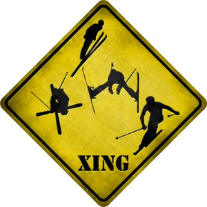 Skier Xing Wholesale Novelty Metal Crossing Sign