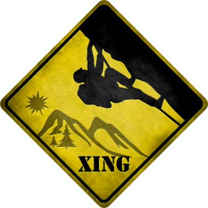 Climbing Xing Wholesale Novelty Metal Crossing Sign