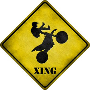 Motorcross Xing Wholesale Novelty Metal Crossing Sign
