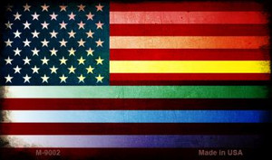 American Flag Rainbow Wholesale Novelty Metal Magnet M-9002