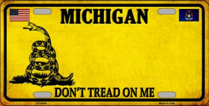 Michigan Don't Tread On Me Wholesale Metal Novelty License Plate