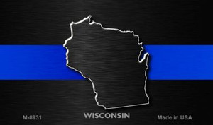 Wisconsin Thin Blue Line Wholesale Novelty Metal Magnet