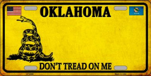 Oklahoma Dont Tread On Me Wholesale Metal Novelty License Plate