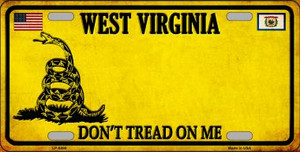 West Virginia Dont Tread On Me Wholesale Metal Novelty License Plate