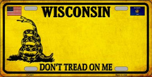 Wisconsin Dont Tread On Me Wholesale Metal Novelty License Plate