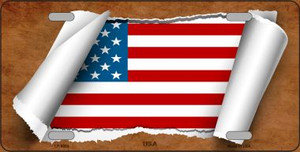 American Flag Scroll Wholesale Metal Novelty License Plate