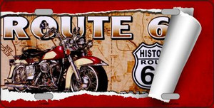 Route 66 Mother Road Scroll Wholesale Metal Novelty License Plate