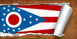 Ohio Flag Scroll Wholesale Metal Novelty License Plate