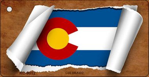 Colorado Flag Scroll Wholesale Novelty Key Chain