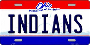 Indians Ohio Novelty State Background Wholesale Metal License Plate LP-2074