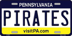 Pirates Pennsylvania Novelty State Background Wholesale Metal License Plate LP-2075