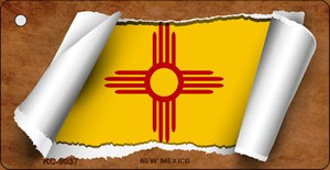 New Mexico Flag Scroll Wholesale Novelty Key Chain