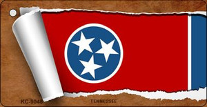 Tennessee Flag Scroll Wholesale Novelty Key Chain