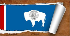 Wyoming Flag Scroll Wholesale Novelty Key Chain