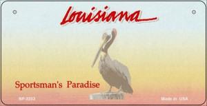 Louisiana Novelty State Background Bicycle License Plate