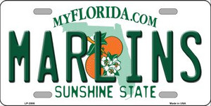 Marlins Florida State Background Wholesale Metal Novelty License Plate