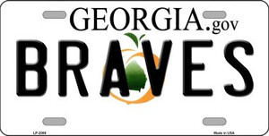 Braves Georgia State Background Wholesale Metal Novelty License Plate