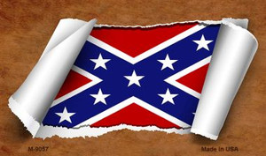Confederate Flag Scroll Wholesale Novelty Metal Magnet