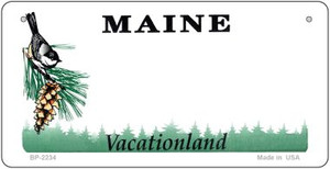 Maine Novelty State Background Bicycle License Plate