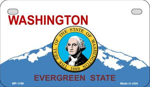 Washington Background With A Seal Wholesale Metal Novelty Motorcycle License Plate