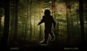 Bigfoot In The Woods Wholesale Novelty Metal Magnet M-8832