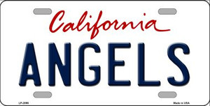 Angels California State Background Wholesale Novelty Metal License Plate