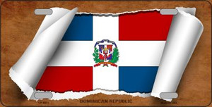 Dominican Republic Flag Scroll Wholesale Metal Novelty License Plate