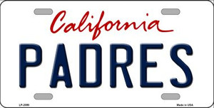 Padres California State Background Wholesale Novelty Metal License Plate
