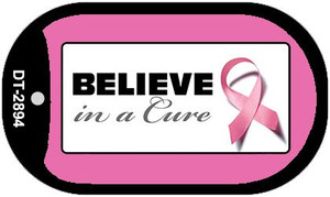 Believe in a Cure Dog Tag Kit Wholesale Metal Novelty Necklace