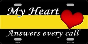 My Heart Answers Every Call Novelty Wholesale Metal License Plate