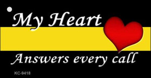 My Heart Answers Every Call Wholesale Novelty Key Chain