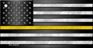 American Flag Thin Yellow Line Wholesale Novelty Key Chain