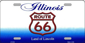 Route 66 Illinois Wholesale Metal Novelty License Plate