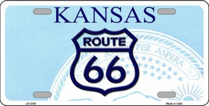 Route 66 Kansas Novelty Wholesale Metal License Plate