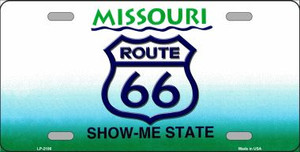 Route 66 Missouri Wholesale Metal Novelty License Plate
