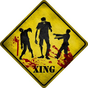 Zombies Xing Wholesale Novelty Metal Crossing Sign