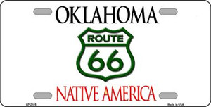 Route 66 Oklahoma Novelty Wholesale Metal License Plate