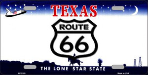 Route 66 Texas Novelty Wholesale Metal License Plate