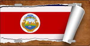 Costa Rica Flag Scroll Wholesale Metal Novelty License Plate