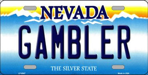 Gambler Nevada Background Novelty Wholesale Metal License Plate