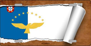 Azores Flag Scroll Wholesale Metal Novelty License Plate