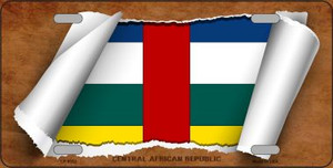 Central African Republic Flag Scroll Wholesale Metal Novelty License Plate