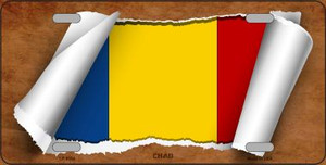 Chad Flag Scroll Wholesale Metal Novelty License Plate