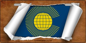 Commonwealth Flag Scroll Wholesale Metal Novelty License Plate