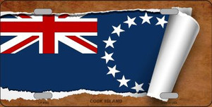 Cook Island Flag Scroll Wholesale Metal Novelty License Plate