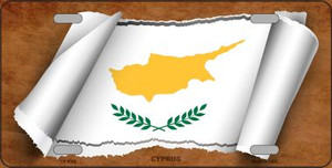 Cyprus Flag Scroll Wholesale Metal Novelty License Plate